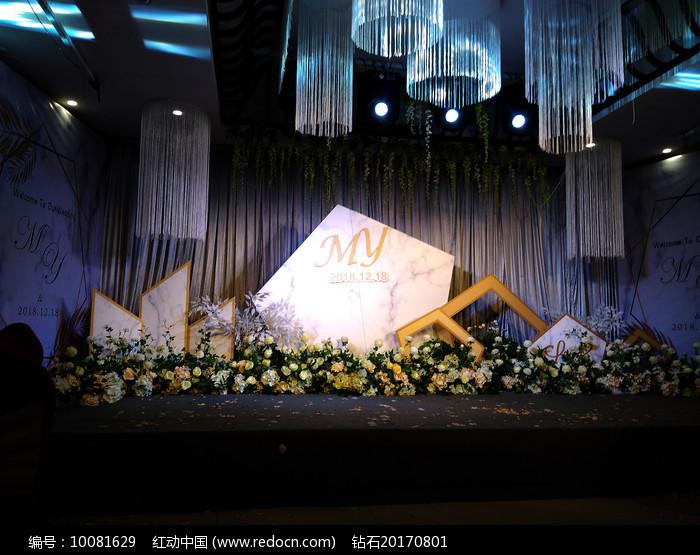 婚礼舞台背景实拍图片
