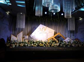 婚礼舞台背景实拍