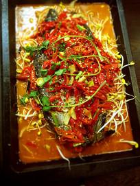 豆芽辣烤鱼