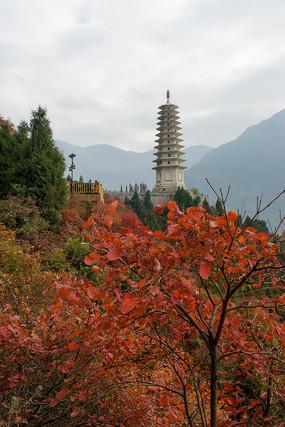 巫山红叶和镇水塔