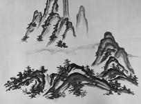 山水风景水墨画