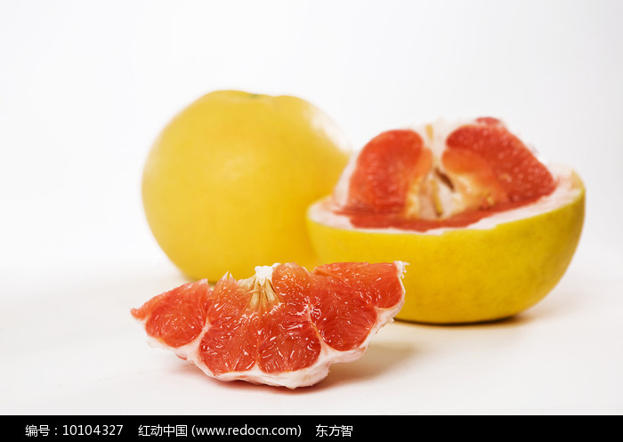 切开的红心柚子图片