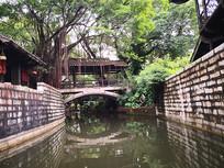 中国深圳民俗文化村小桥风景