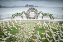 白色唯美户外婚礼