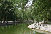 公园翠绿湖泊