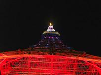 东京塔夜景仰拍