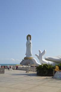 海南观音雕像图