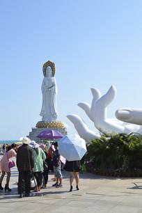 海南南海观音塑像