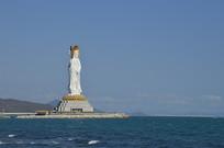 海南南海观音塑像图