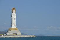 海南三亚百米高的观音雕像图