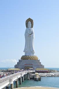 海南三亚南海观音塑像图片