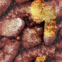 石头抽象油画