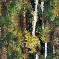 树林抽象油画背景
