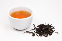 岩茶牛栏坑肉桂茶汤和茶叶