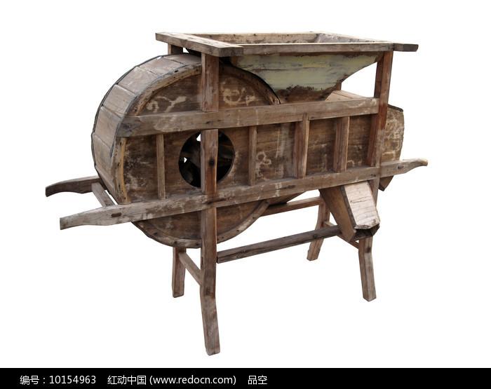 中国传统农具风谷机白背景图片图片