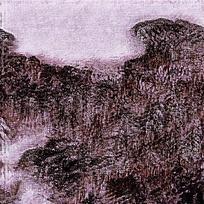抽象底纹风景印花