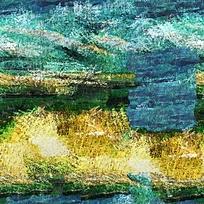 抽象风景油画