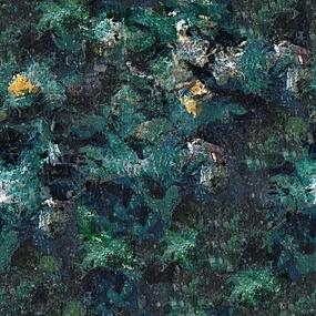 绿叶背景油画