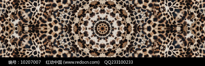 豹纹数码印花花型图片