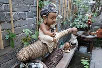 竹子上的佛像