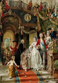 卡尔·赫普尔油画-婚礼宴会