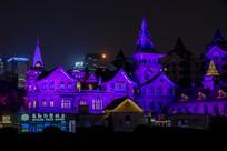 马勒别墅饭店夜景横构图