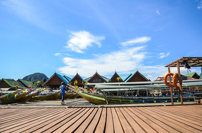 普吉岛码头摄影