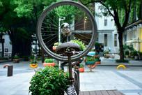 复古自行车道路景观