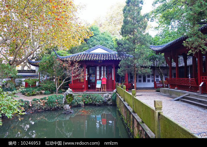西湖孤山中式庭院建筑