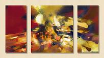 抽象油画酒店装饰画