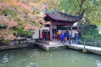 """杭州西湖十景之一""""平湖秋月"""""""