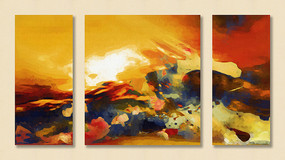 三联现代装饰画