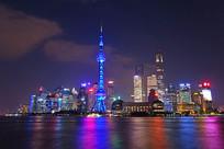 上海东方明珠电视塔灯光夜景