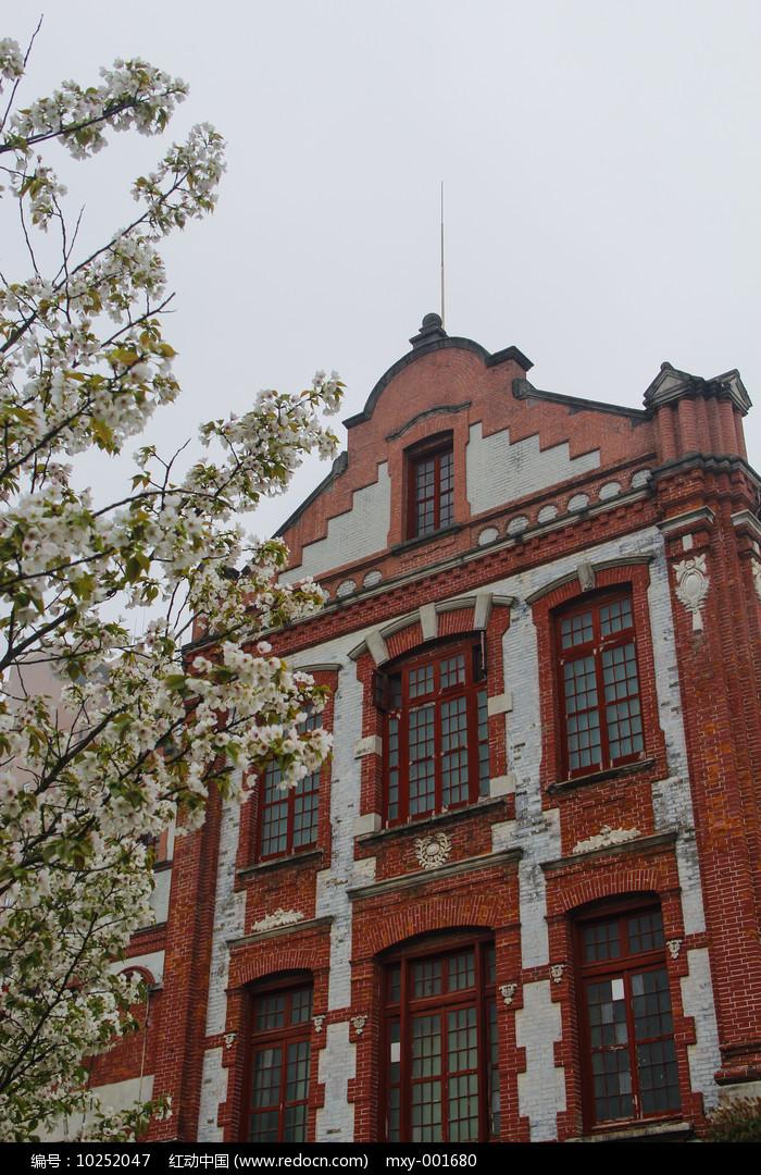 樱花古建筑图片
