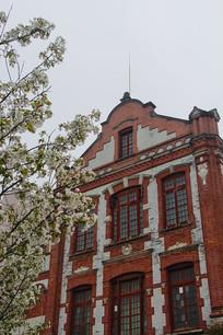 樱花古建筑
