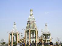 上海野郊公园城堡建筑摄影
