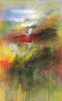 高清原创手绘抽象油画