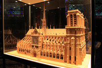 法国巴黎圣母院建筑模型