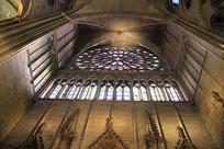 法国巴黎圣母院玫瑰花型圆窗