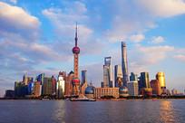 上海陆家嘴现代化建筑群景观
