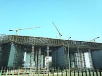 建筑钢架拍摄