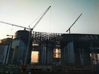 现代建筑钢架
