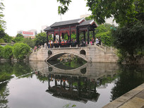 小桥流水景观
