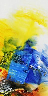 抽象画玄关壁画