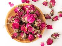 红玫瑰花茶摄影图