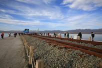 茶卡盐湖小火车