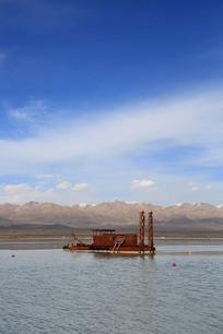 高原湖泊茶卡盐湖