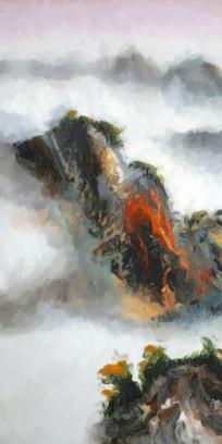 山水画意境水墨画