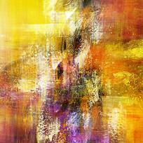 手绘抽象油画