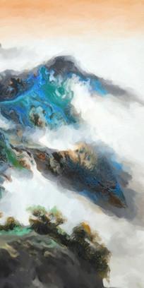 新中式风格山水风景画